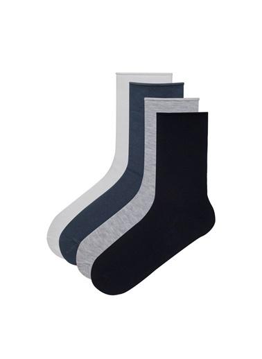 Penti Simple 4'Lü Soket Çorap Mavi
